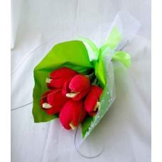 Букет мини тюльпаны