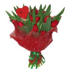 Букет Алые тюльпаны