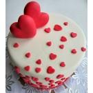Торт Сердечки
