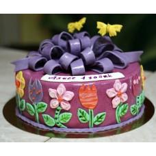 Торт Сиреневый бантик