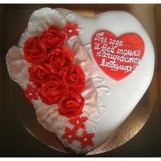 Торт Сердце в розах