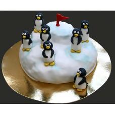 Торт Пингвины