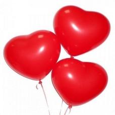 3 шарика в форме сердечка